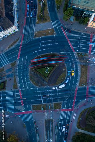 Fototapeta Skrzyżowanie w centrum miasta