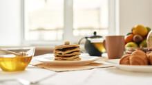 A Stack Of Sweet Tasty Pancake...