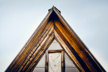 Old Wooden Roof Of A House. Fr...