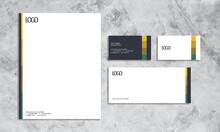 Set Of Stationery With Modern ...