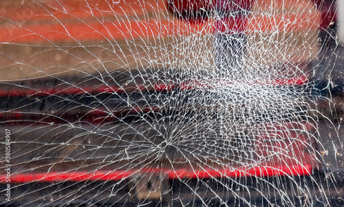 broken glass after acts of vandalism Fototapet