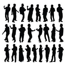 Dancing Asian People Silhouett...