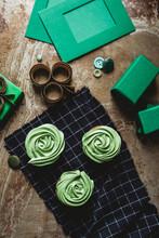 Green Cupcakes For Saint Patri...