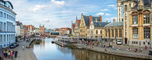 Ghent, Belgium: Panoramic View...