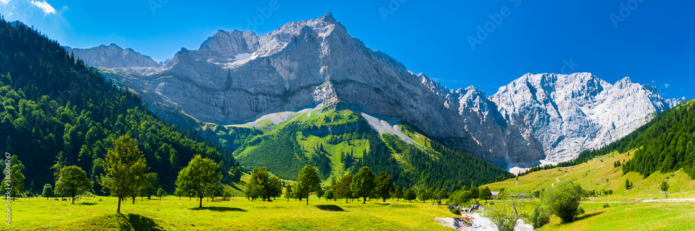 Fototapeta panoramic landscape at Karwendel mountains