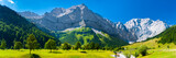 panoramic landscape at Karwendel mountains