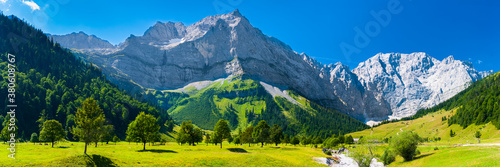 Fototapeta panoramic landscape at Karwendel mountains obraz