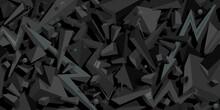 Dark Black Flat Seamless Abstr...