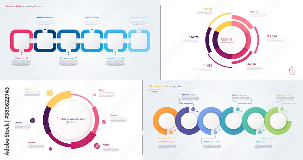 Vector process and circle chart designs