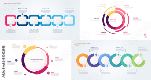 Fototapeta Vector process and circle chart designs obraz