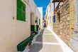 Nikia Village street view in Nisyros Island