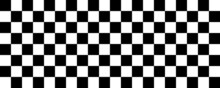 Checked Flag Pattern. Black An...