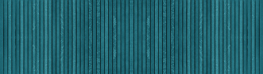 Dark turquoise grunge abstract colorful corrugated striped concrete cement stone mosaic tiles texture background banner panorama