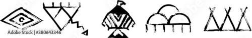 Fotografie, Obraz Most popular Native American Symbols