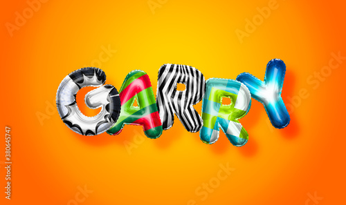 Fotografie, Obraz Garry male name, colorful letter balloons background