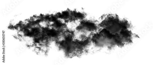 Photo smoke isolated on black background