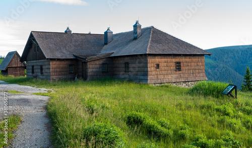Cuadros en Lienzo Frantiskova myslivna hut in Jeseniky mountains in Czech republic