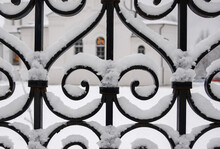 Patten Iron Fence Covered By S...
