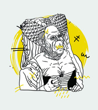 Creative Geometric Yellow Style. The Ugly Duchess. Crazy Style.