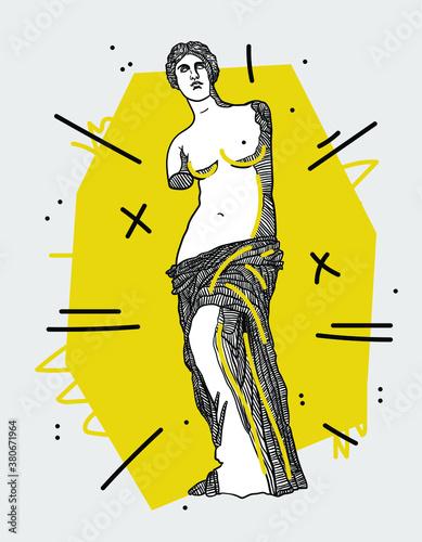 Fotografía Creative geometric yellow style