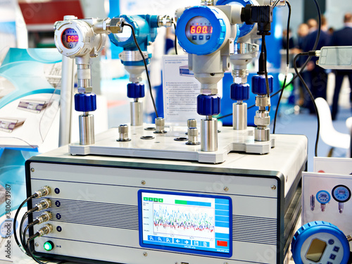 Fototapeta Automatic pressure calibrator at exhibition obraz
