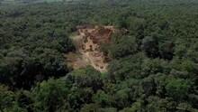 Aerial Shot Of Phrae Phae Muang Phi Forest Park Phrae Province, Thailand