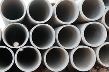 Picture Of Pipes For Underground Communications.