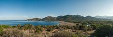 Panoramic View Of Galéria Beach In Corsica