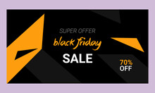 Black Friday Sale Banner For Social Media