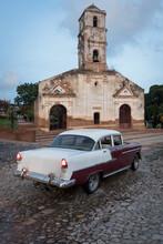 Vintage Car In Trinidad