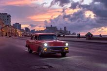 Classic Car Driving In La Hava...