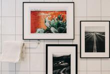 White Tiled Bathroom Detail Wi...
