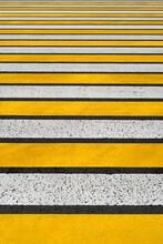 Yellow & White Crosswalk