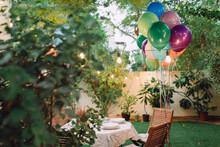 Birthday Decorated Garden With...