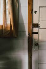 Locks On Rustic Door