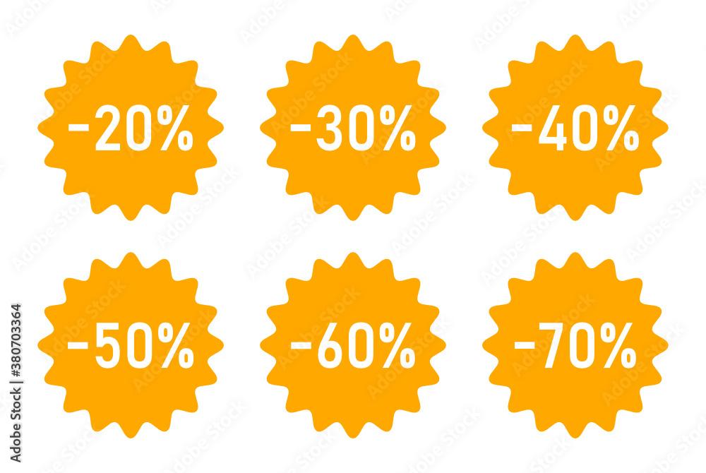 Fototapeta ikony rabatu sprzedaży