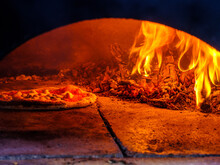 Wood Fired Pizza In Oven