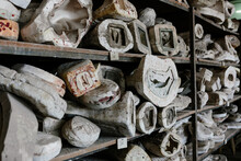 Old Molds Storage On Shelves