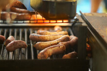 Sausage On Grill
