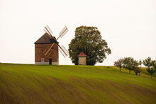 Old Windmill In The Fields Of South Moravia