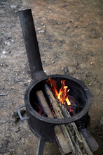 Old-fashioned Stove Firing, Ou...