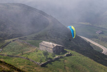 A Paraglider Approaches His Landing Area