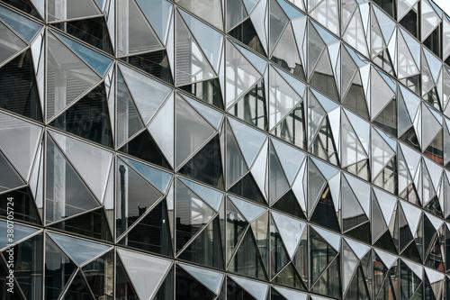 Lines & perspective of modern architecture in Copenhagen, Denmark Fototapeta