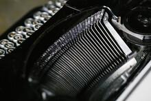 Closeup Sorts Of Typewriter