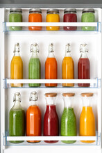 Fruit Juices Stored In A Fridge