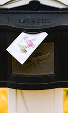Letter To Santa In Mailbox