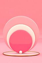 Abstract Pink Circles