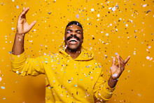 Happy African American Man Ove...