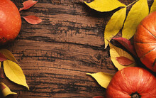 Autumn Wooden Background With ...