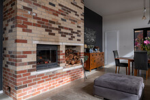 Contemporary Home With Brick T...